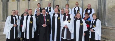 Rev'd Graham Witts was welcomed as a Prebendary